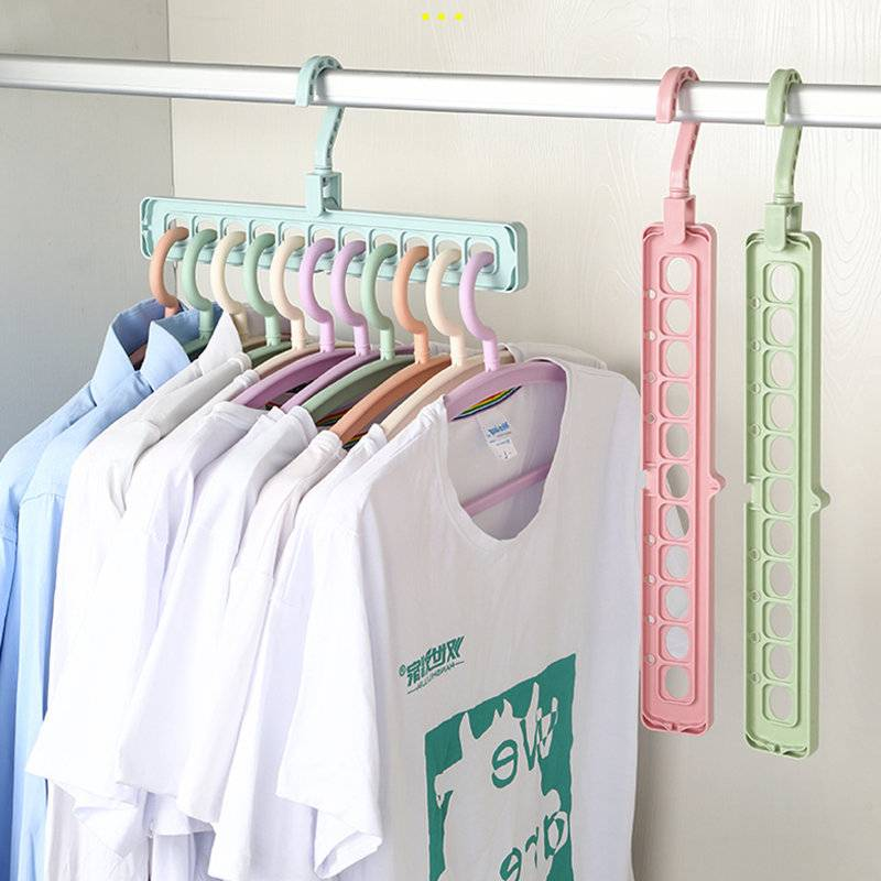 太牛! 衣橱整理衣架大学生宿舍必备非宜家分层隔板衣柜收纳神器