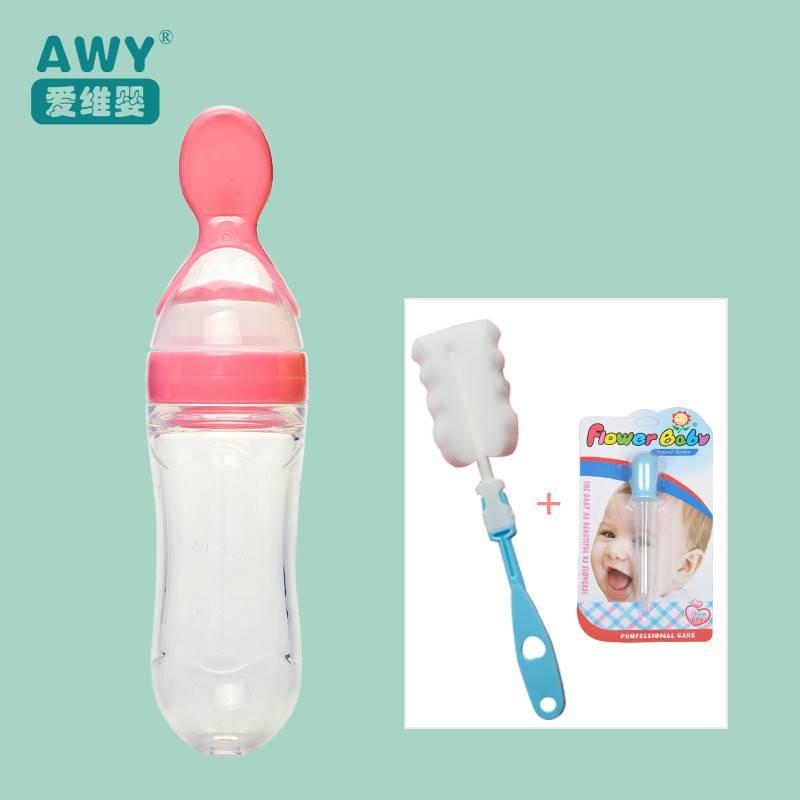宝宝辅食神器工具挤压式婴儿喂米粉米糊勺子奶瓶奶神器硅胶挤压勺