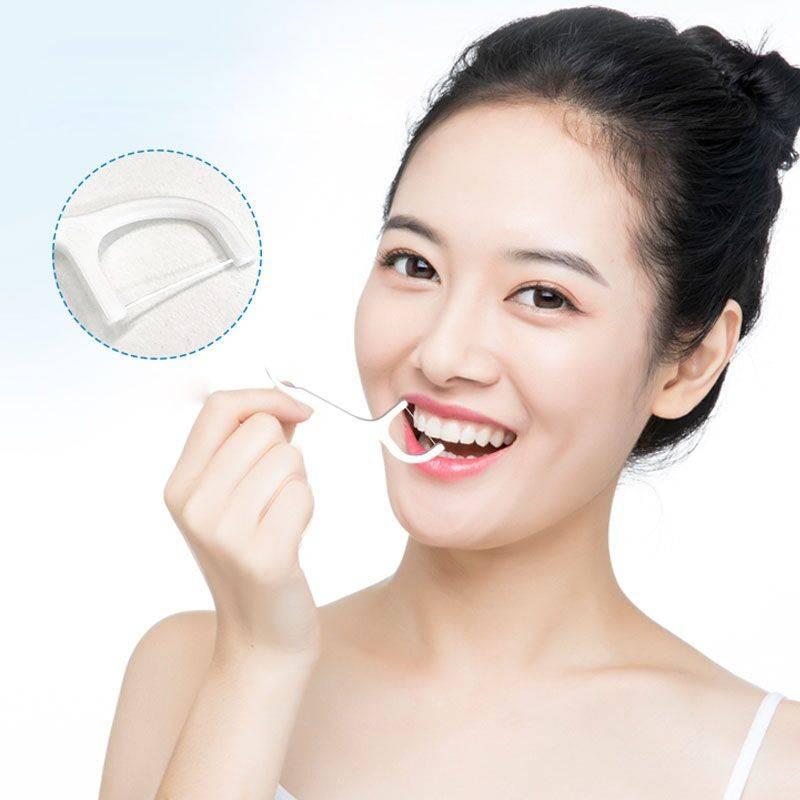 比安媞高拉力单独装牙线棒3盒装150支便携随身剔牙线家庭装超细