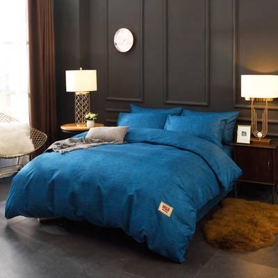 无印超柔天丝棉四件套床上用品床单1.5床1.8宿舍被套单双人床套件