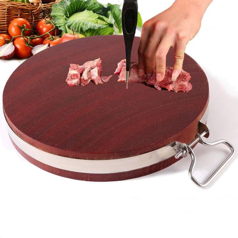 越南铁木菜板实木圆形砧板厨房切菜板家用案板整木小面板大号刀版
