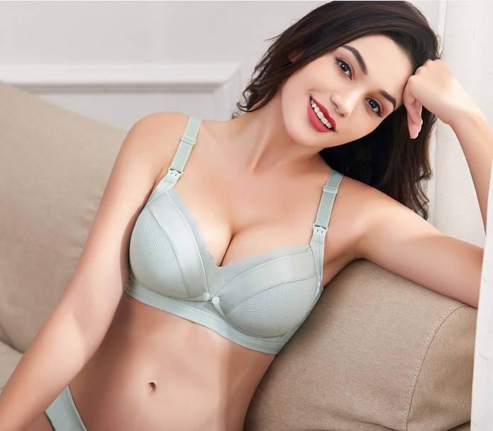 哺乳文胸聚拢防下垂夏季产后孕妇内衣胸罩怀孕期纯棉里喂奶薄款超