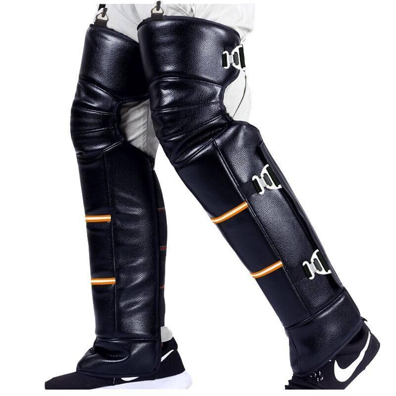 冬季骑摩托车护膝电动车保暖羊毛电瓶男护腿骑行护具骑行加厚防风