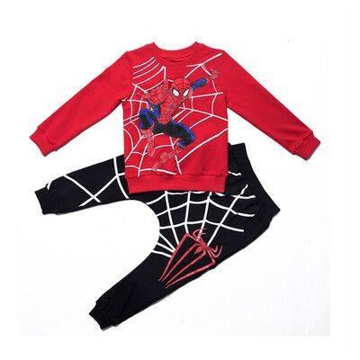 童装万圣节服装男童秋装蜘蛛侠套装新款儿童小男生长袖两件套潮衣