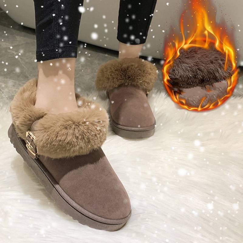 2019新款韩版一脚蹬懒人鞋百搭女鞋子洋气羊羔毛厚底鞋