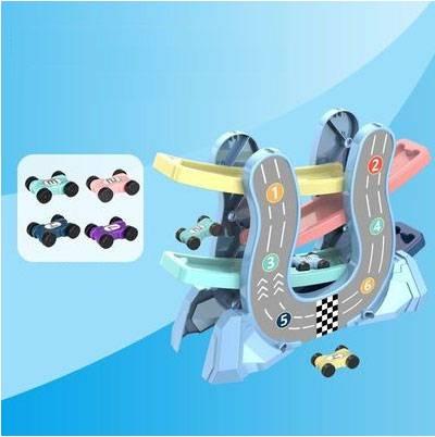 益智滑翔轨道车玩具小汽车儿童1-3岁女孩2惯性宝宝玩具车男孩礼物