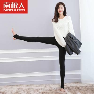 南极人秋冬女装新款加绒加厚打底裤外穿韩版保暖裤踩脚一体裤