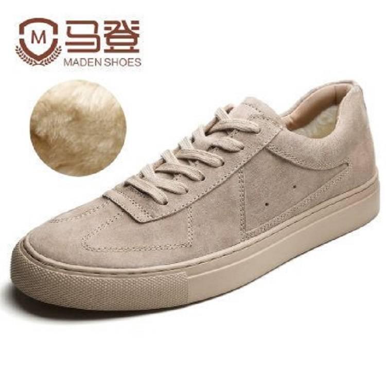Maden马丁靴中帮潮百搭英伦工装靴靴子男高帮短靴