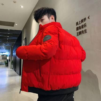 komk男装棉衣男士外套冬季加厚立领青年棉袄韩版潮流冬季羽绒棉服