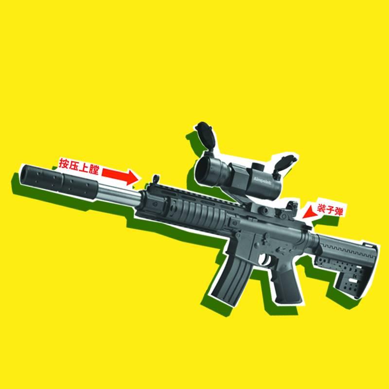 AWM416水弹抢儿童男孩玩具枪仿真突击步枪绝地吃鸡大号手动可发射