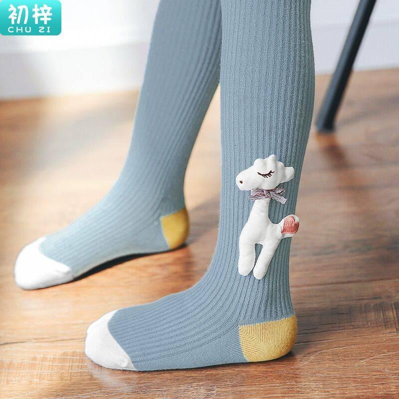 女童连裤袜春秋宝宝袜子卡通儿童连体袜可爱小女孩打底裤洋气外穿