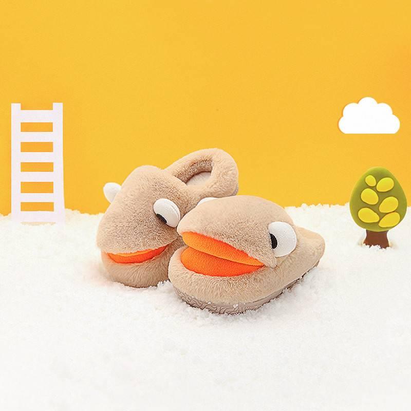 小孩冬季幼毛毛拖鞋儿童家居鞋男童1-3岁秋冬小童宝宝棉拖鞋女童