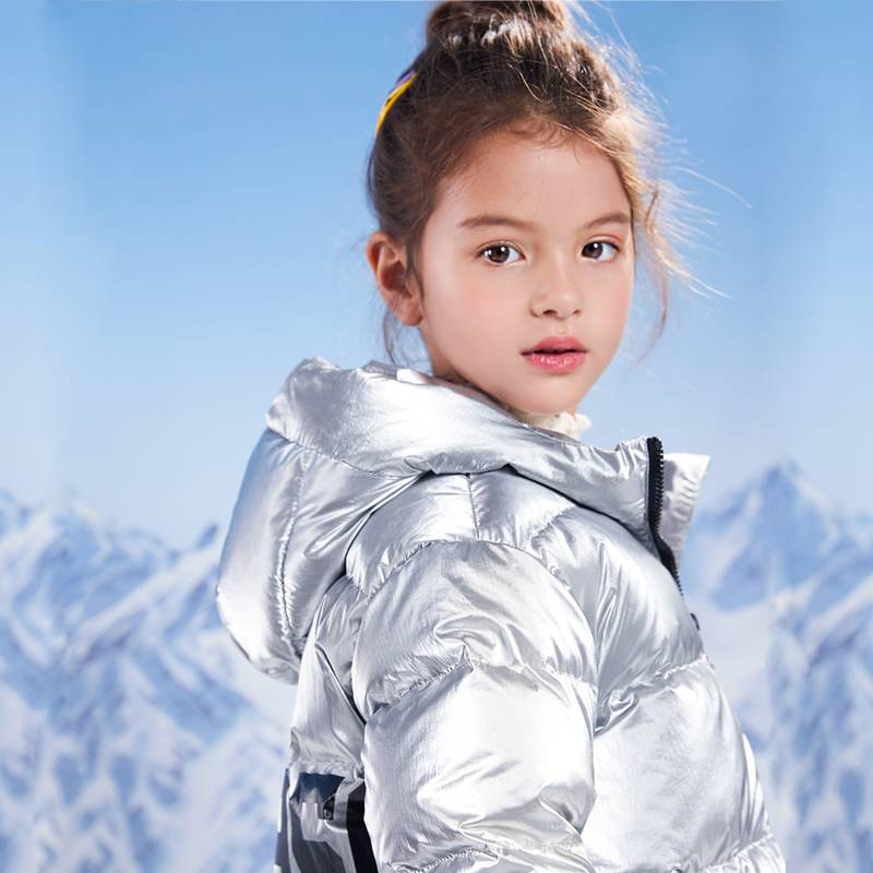 史努比童装儿童女童中长款羽绒服中大童2019新款韩版洋气连帽外套