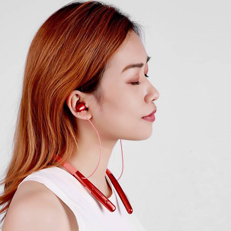 Remax/睿量正品原装S16蓝牙耳机颈挂式无线运动跑步双耳入耳式耳机苹果华为安卓手机通用健身房vivo超长待机