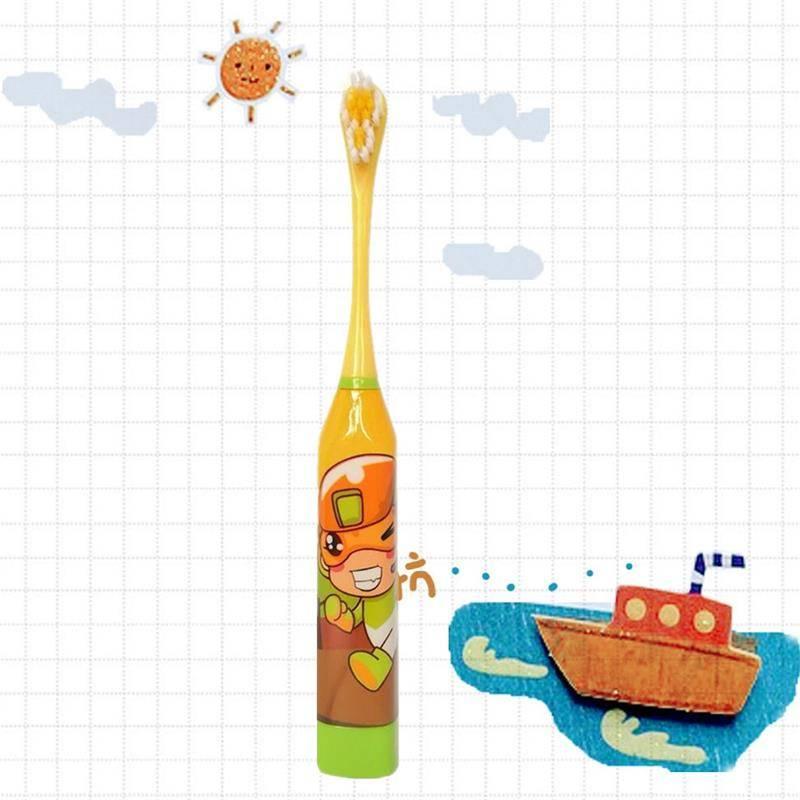 电动牙刷儿童防水3-12岁杜邦软毛卡通护牙免充电声波震动牙刷-给呗网