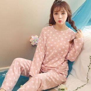 可外穿睡衣女韩版纯棉长袖家居服