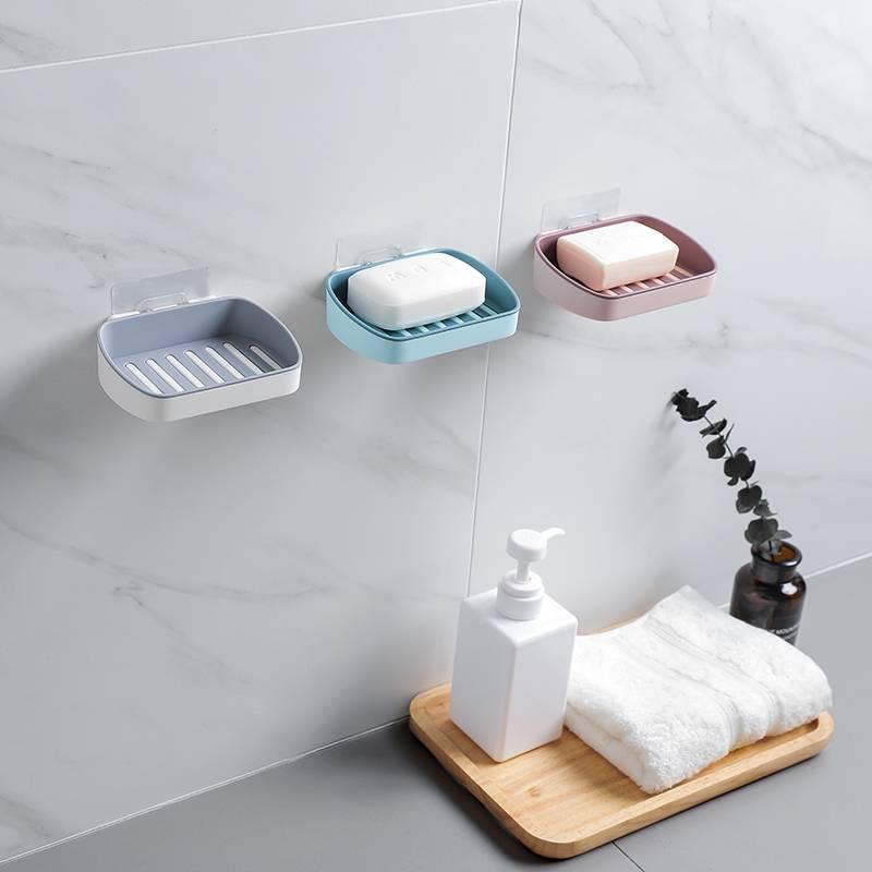 免打孔肥皂盒卫生间沥水壁挂式大号家用香皂盒肥皂架毛巾置物架