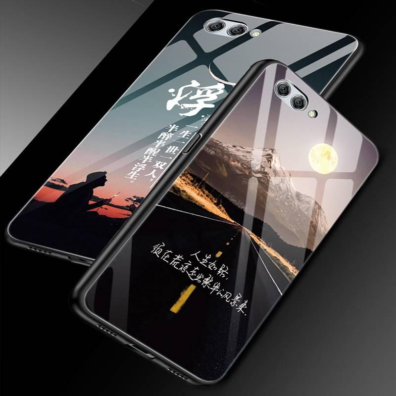 华为nova2s手机壳玻璃nove2s保护套全包边nowa2s镜面后盖navo2s硅胶软边防摔外壳男女个性创意潮网红