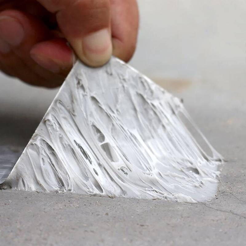 楼屋顶墙面水管裂缝补漏贴铝箔防水材料丁基防水胶带自粘强力止漏