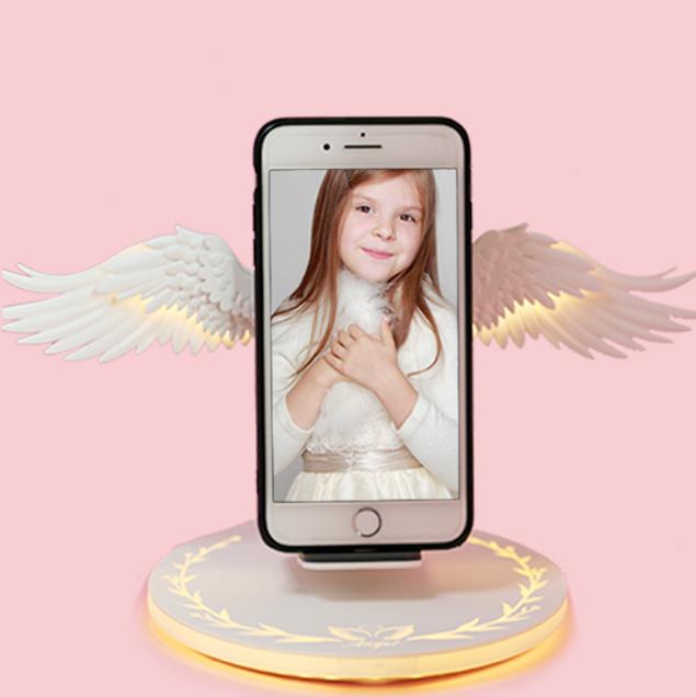 天使的翅膀无线充电器立式原装之翼10W快充苹果安卓手机X万能通用