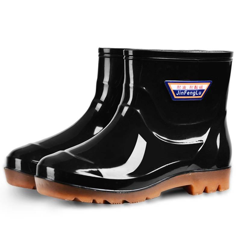 保暖雨鞋男士雨靴高筒中筒短筒成人加绒棉胶鞋劳保防水鞋水靴套鞋