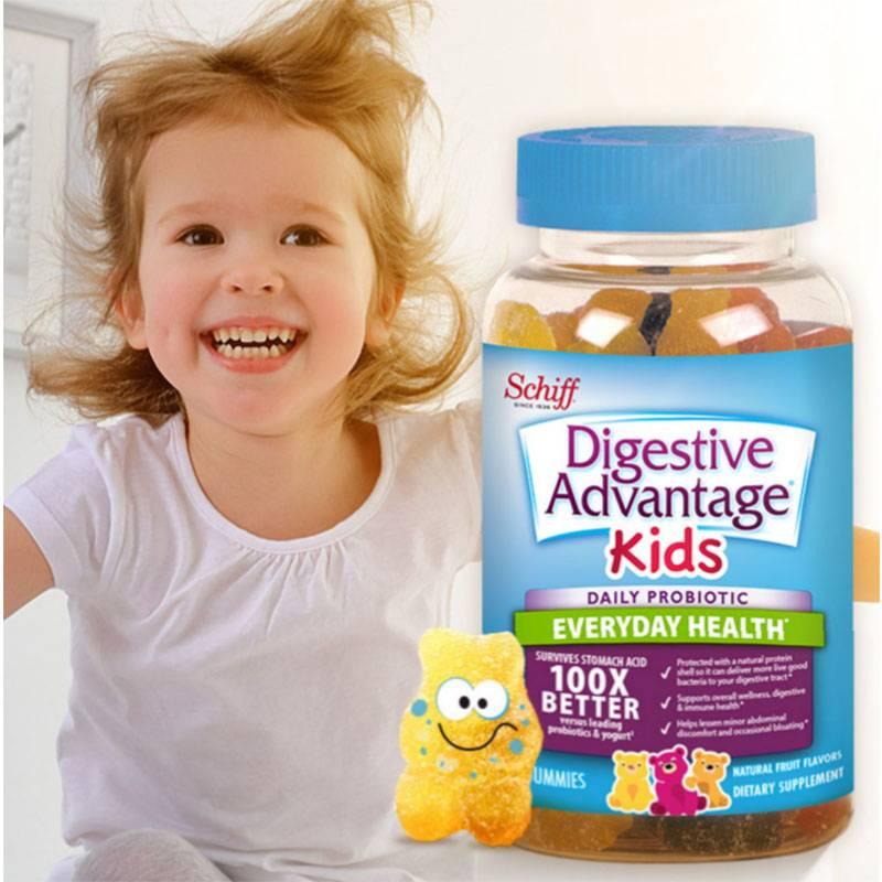 美国DA益生菌小熊软糖成儿童调理肠胃助消化60粒送正装维C咀嚼片