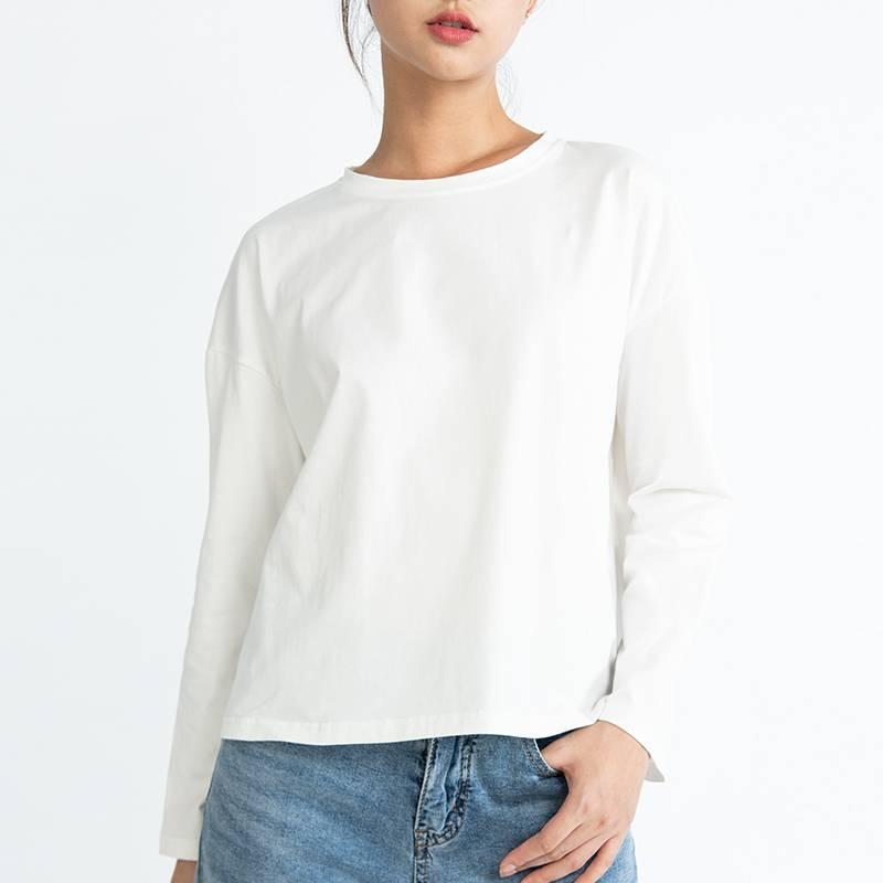 19新款睡衣上衣修身长袖T恤女宽松打底可外穿休闲短袖春夏家居服