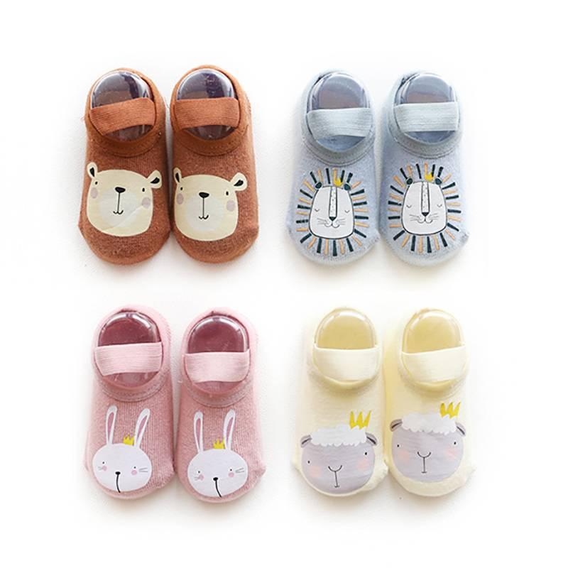 婴儿学步地板袜防滑软底春秋冬季幼儿童小孩男童男女宝宝室内袜子