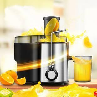 美的全自动大口径榨汁机水果原汁机