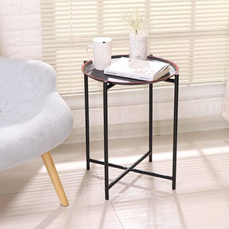迹邦新款小茶几现代简约客厅卧室家用小户型床边几角几置物架圆桌