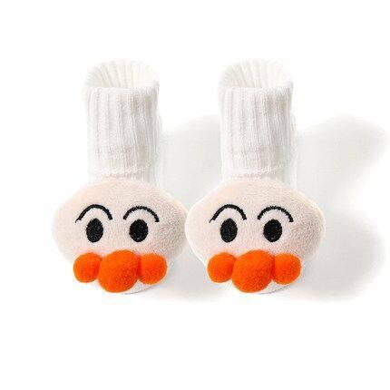 宝宝袜子秋冬纯棉婴儿可爱公仔防滑袜幼儿童男童女童地板秋季长袜