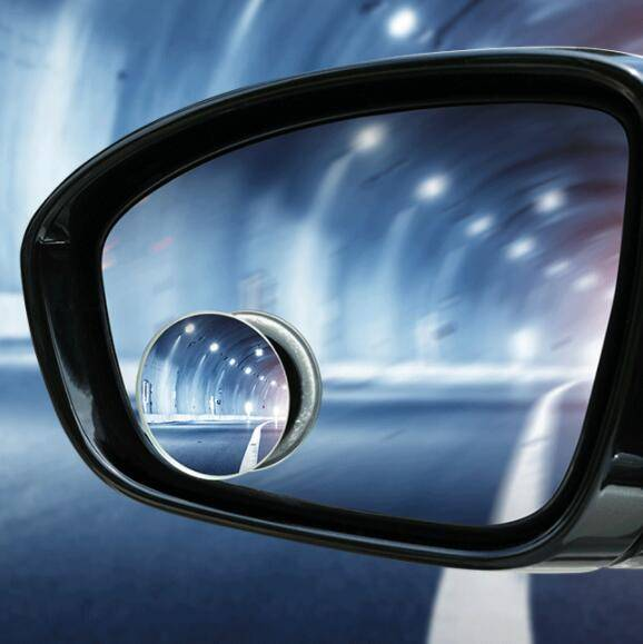 汽车后视镜小圆镜反光倒车辅助镜盲点镜高清360度可调广角带边框