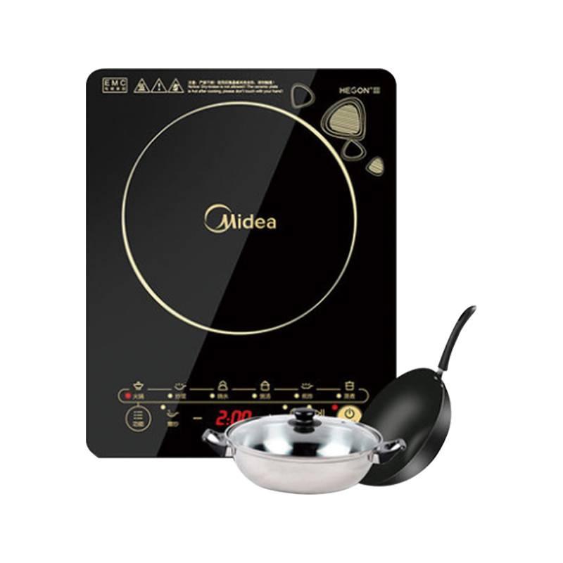 Midea/美的 WK2102美的电磁炉WK2102家用智能节能炒菜一体送锅官