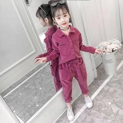 女童套装秋冬2019新款韩版时髦儿童洋气加绒中大童装女孩时尚潮衣