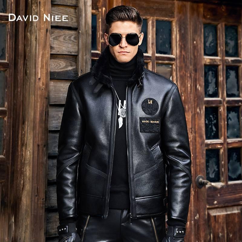 男士皮毛一体20秋冬季新款加厚毛领皮夹克加绒御寒宽松潮皮衣外套