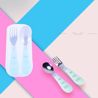 儿童餐具套装宝宝吃饭训练硅胶软勺婴儿注水保温碗不锈钢辅食餐具