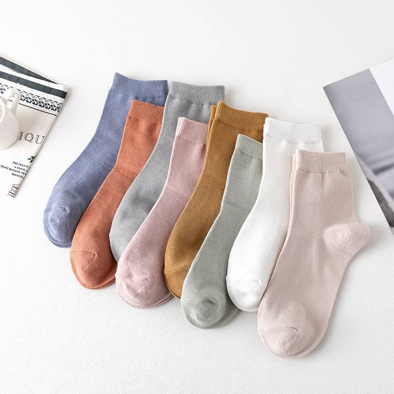 【5双装】南极人女中筒中筒袜子