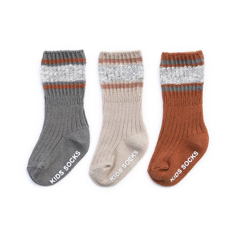 宝宝袜子秋冬季纯棉加厚男童小孩男孩幼儿童中筒地板春秋婴儿长袜