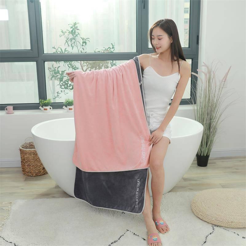 浴巾家用纯棉吸水速干不掉毛刺绣款成人男女通用型毛巾柔软洗澡巾