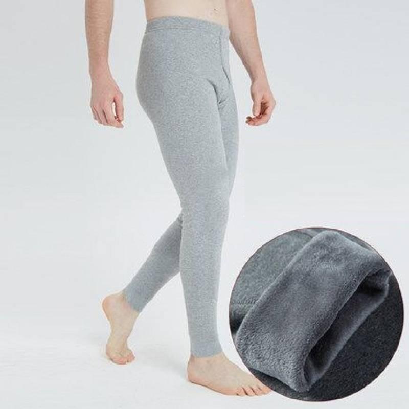 貴源絨冬季男士護膝保暖褲加厚加絨褲線褲內褲緊身打底褲秋褲襯褲