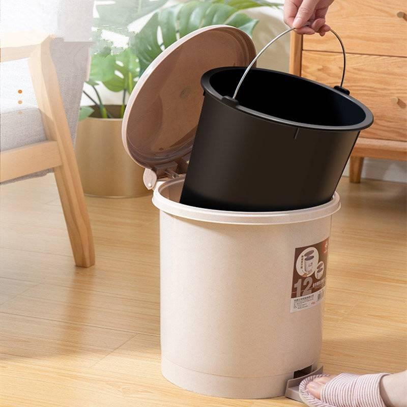 垃圾桶家用带盖客厅创意卫生间厕所大号厨房简约现代高档拉圾筒