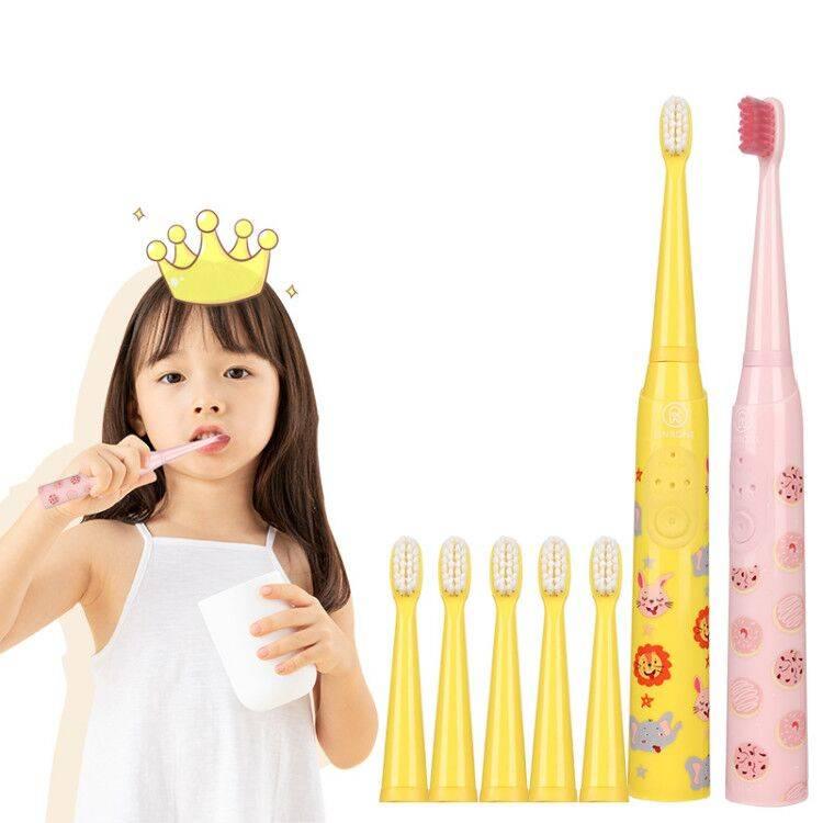 香港林柔儿童电动牙刷充电式3-6-12岁小孩宝宝软毛全自动声波刷牙