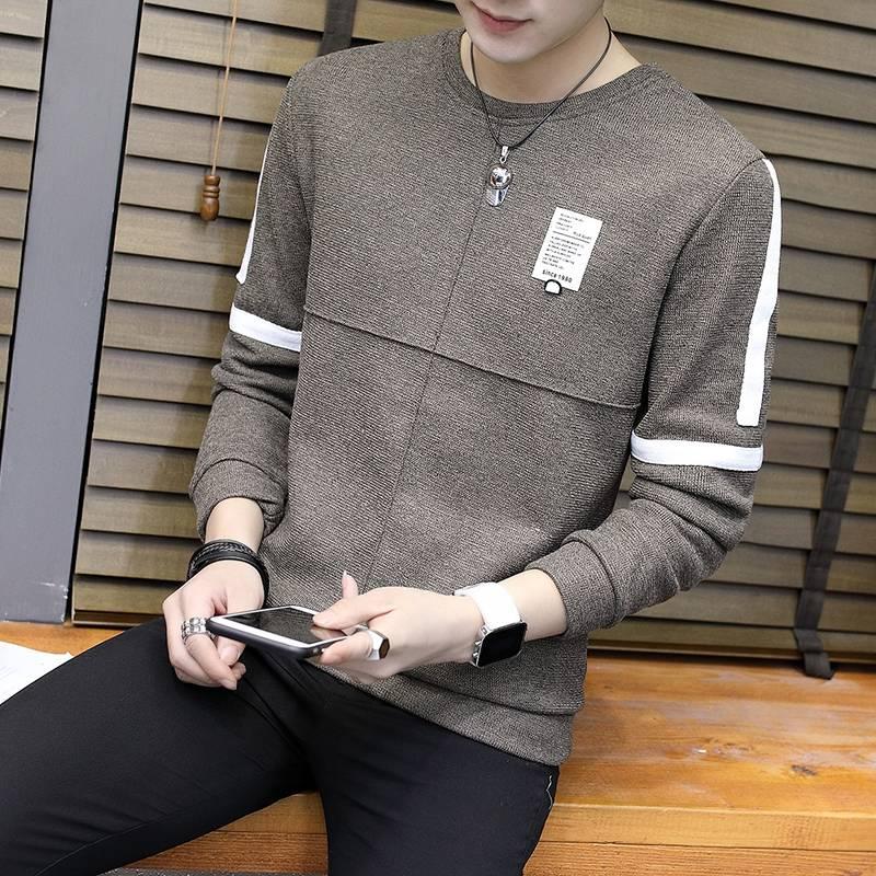 新品男士修身纯色高领毛衣针织衫紧身显瘦长袖韩版帅气打底衫上衣