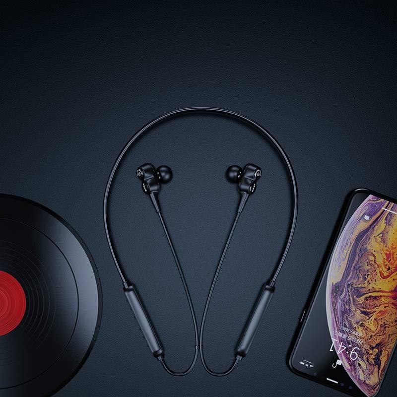 四核双动圈无线跑步型运动型蓝牙耳机双耳单耳项圈颈挂式挂脖式头戴式入耳挂耳式耳塞手机苹果华为安卓通用