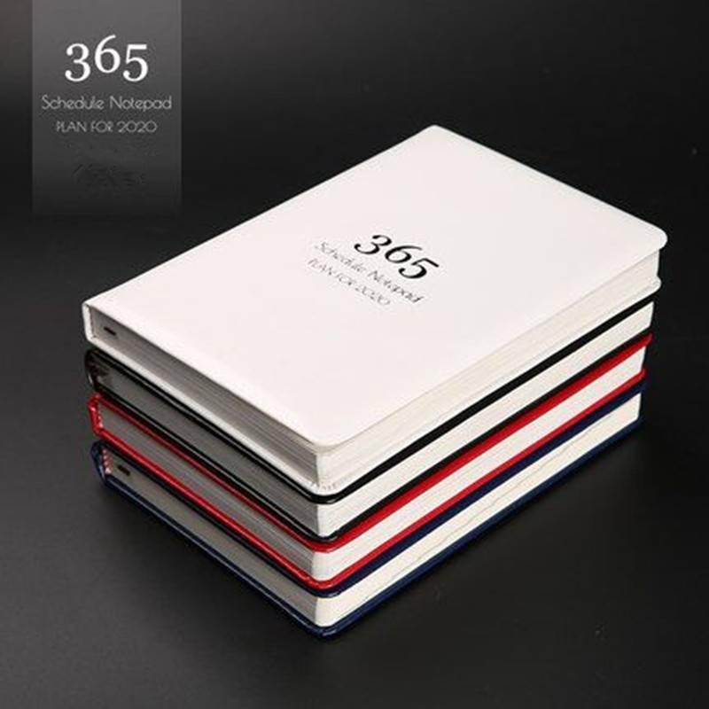 2020年日程本365天每日计划本笔记本本子手账礼盒套装定制可印logo时间管理效率手册记事本