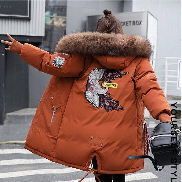 优莱慕棉服女2019年新很仙的棉服棉袄款韩版宽松中长款冬季棉外套