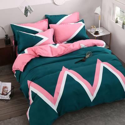 【掉色起球包退】床上用品四件套1.5m1.8米床单被罩被套全棉纯棉