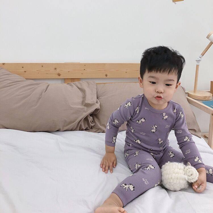 儿童睡衣男童秋季新款2020纯棉内衣宝宝家居服套装秋衣秋裤两件套