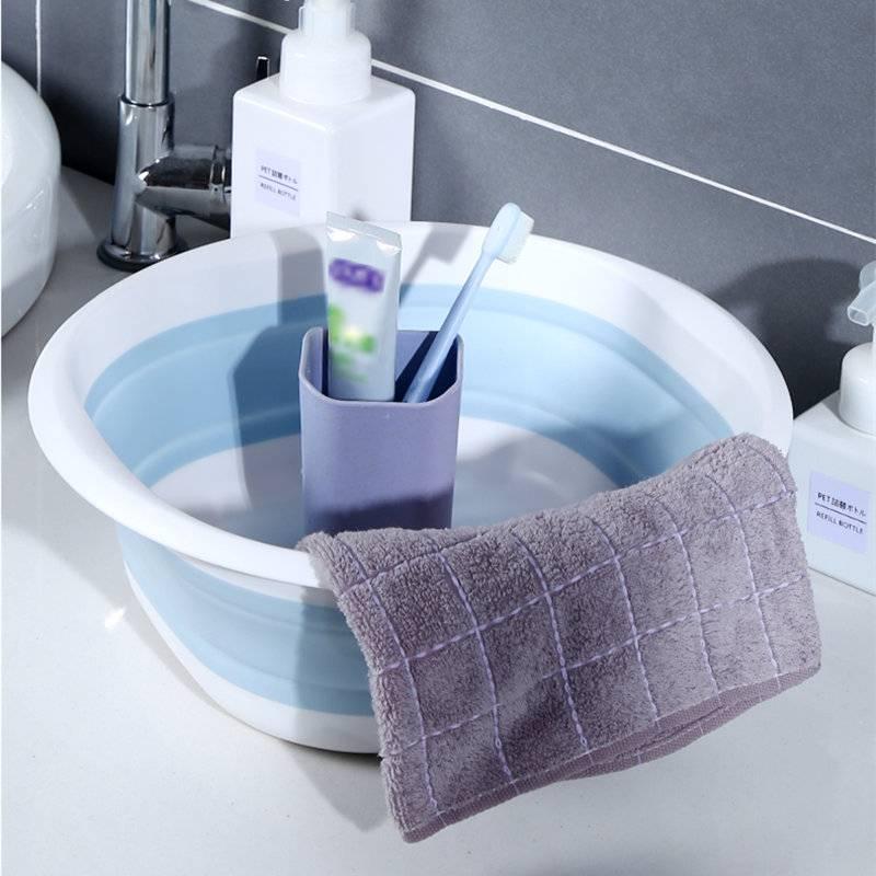 可折叠洗脸盆家用大小号压缩旅行便捷式学生宿舍用洗衣服塑料盆子