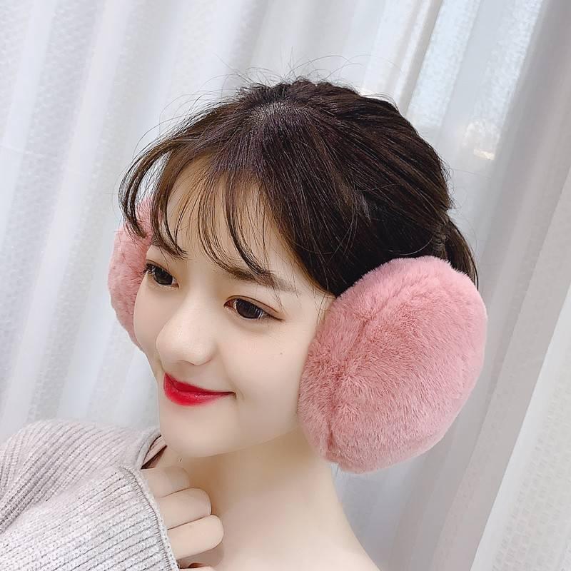 护耳罩耳套保暖女挂耳包耳捂耳暖冬季兔耳朵套韩版可爱折叠后戴式